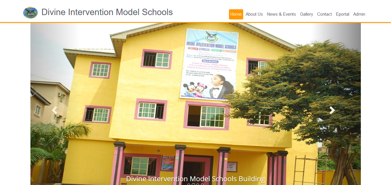 Divine Intervention Model Schools Website and School Software