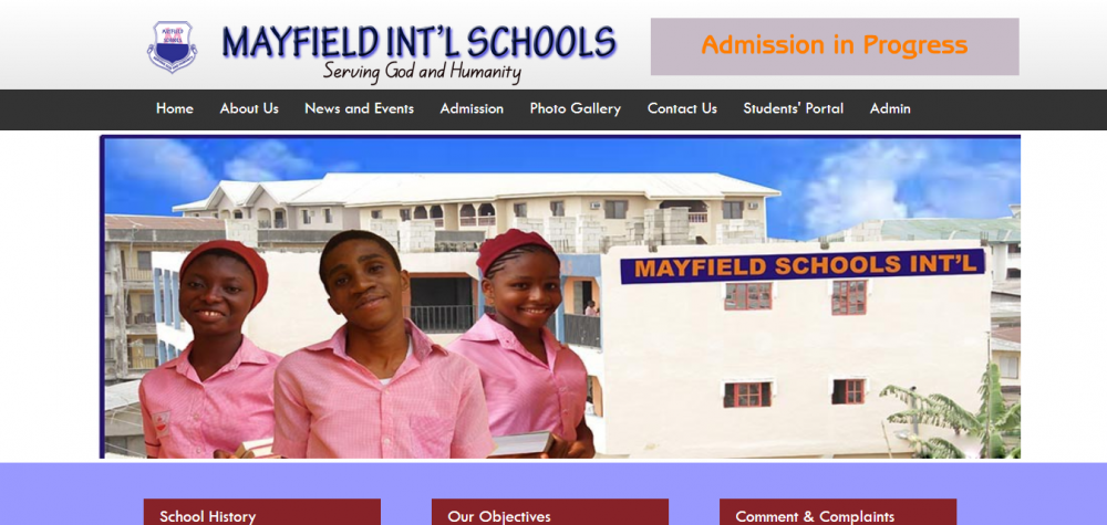 Mayfield International Schools Abia State – Website and Portal