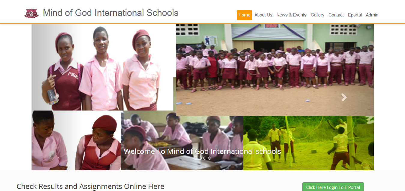 Mind of God Secondary School – Website and Software