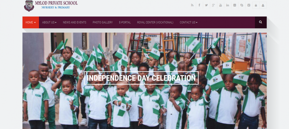 Website and Portal developed for Mylod School in Lagos