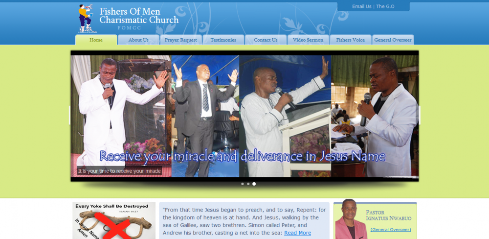 The Fishers of Men Charismatic Church Website Developer